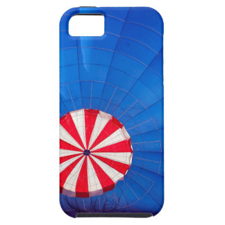 Blue Hot Air Balloon Inflating On The Ground iPhone SE/5/5s Case