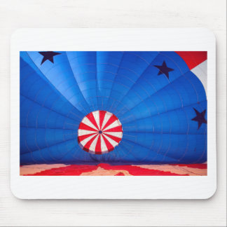 Blue Hot Air Balloon Inflating On The Ground Mouse Pad