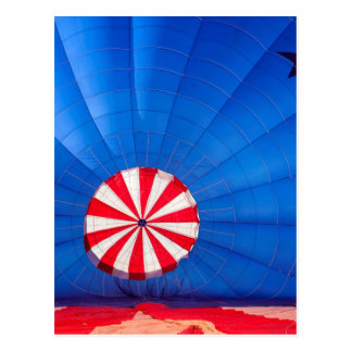 Blue Hot Air Balloon Inflating On The Ground Postcard