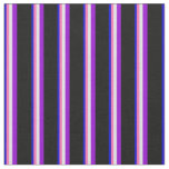 [ Thumbnail: Blue, Hot Pink, Lavender, Dark Violet, and Black Fabric ]
