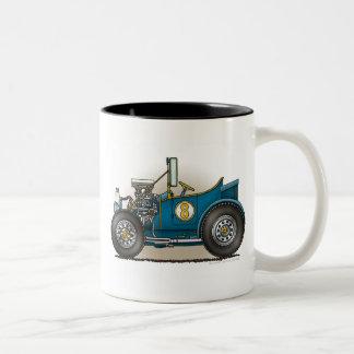 Blue Hot Rod Car Mugs