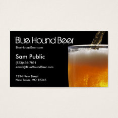 Blue Hound Beer Business Card at Zazzle