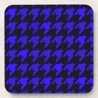 Blue Houndstooth Beverage Coaster