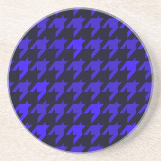 Blue Houndstooth Coaster