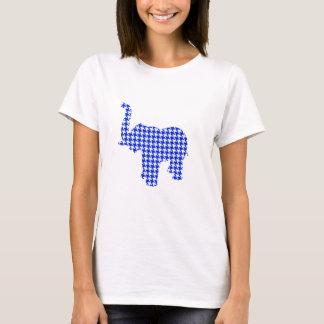 Blue Houndstooth Elephant T-Shirt