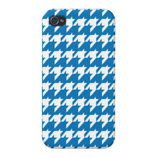 Blue houndstooth iPhone 4 cover