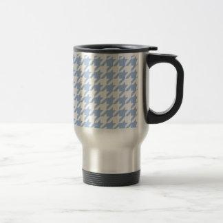 Blue Houndstooth 15 Oz Stainless Steel Travel Mug