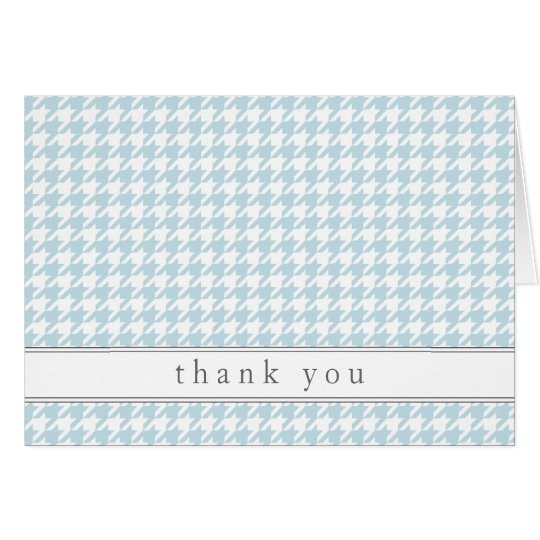 Blue Houndstooth Pattern Thank You Notes