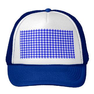 Blue Houndstooth Pattern Trucker Hat