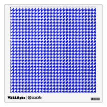 Blue Houndstooth Pattern Wall Decal