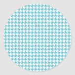 Blue Houndstooth Stickers