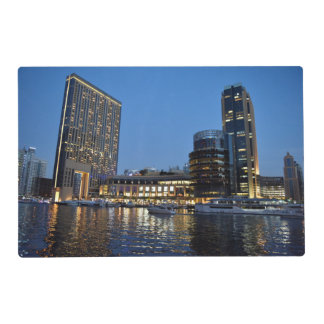 Blue hour skyscrapers in Dubai Marina Placemat