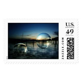 Blue hour stamp