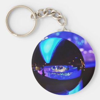 Blue hour through the crystal ball keychain