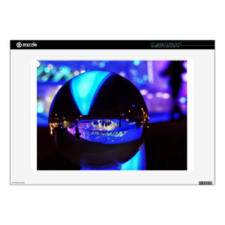 Blue hour through the crystal ball laptop decal