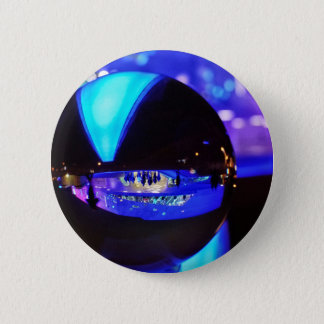 Blue hour through the crystal ball pinback button