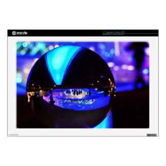 Blue hour through the crystal ball skin for laptop