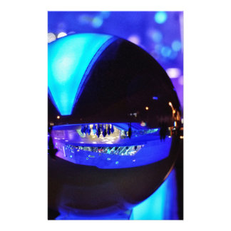 Blue hour through the crystal ball stationery
