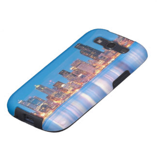 Blue hour view of downtown Seattle Samsung Galaxy SIII Cases