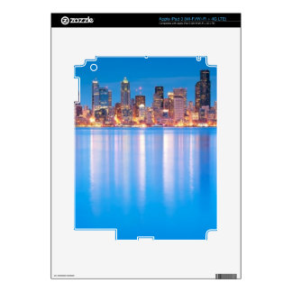 Blue hour view of downtown Seattle iPad 3 Skins
