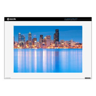 """Blue hour view of downtown Seattle Skins For 15"""" Laptops"""