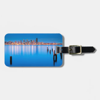 Blue hour view of downtown Seattle Tag For Luggage