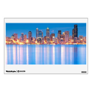 Blue hour view of downtown Seattle Wall Sticker