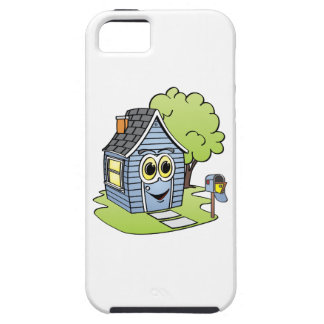 Blue House Cartoon iPhone SE/5/5s Case
