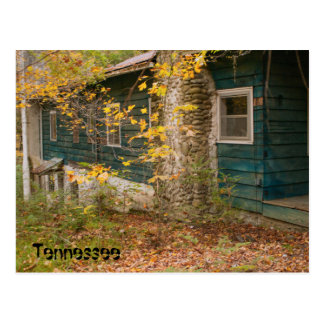 Blue House in Tennessee Postcard