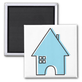 Blue House Magnet