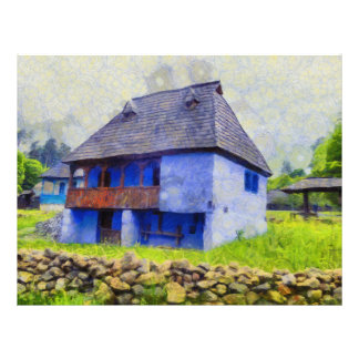 Blue house painting flyer