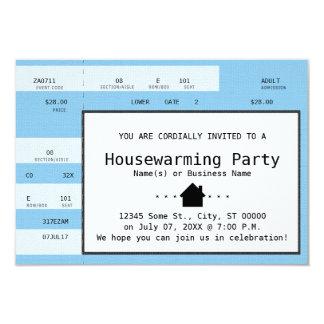 blue housewarming concert ticket card