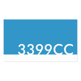 blue html color code 3399CC Business Cards