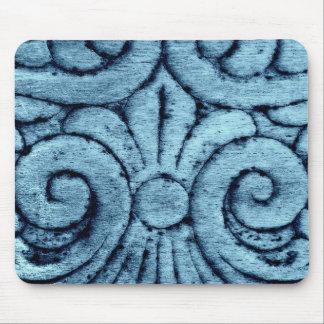 Blue Hue Swirls Mouse Pad