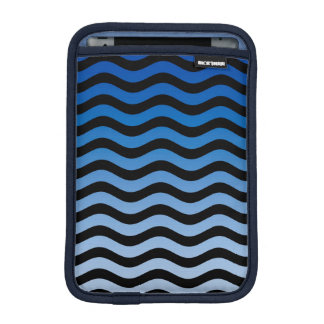 Blue Hues Wavy Stripes iPad Mini Sleeve
