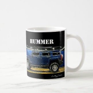 """Blue Hummer"" Mosaic © 2010 S.J. Coffee Mug"
