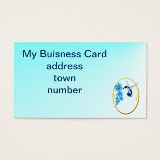 Blue Hummingbird Buisness Card
