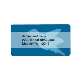 Blue Hummingbird Label