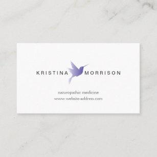Healthcare business cards templates zazzle blue hummingbird logo naturopathy healthcare business card colourmoves