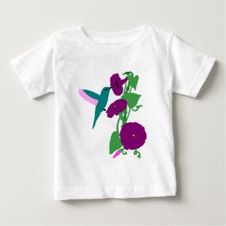 Blue Hummingbird & Morning Glory Vine Infant T-shirt