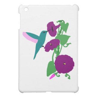 Blue Hummingbird & Morning Glory Vine iPad Mini Cover