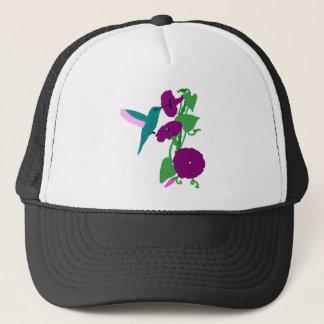 Blue Hummingbird & Morning Glory Vine Trucker Hat