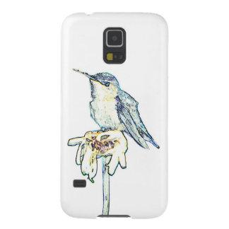 Blue Hummingbird on Shasta Daisy Case For Galaxy S5