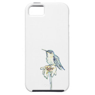 Blue Hummingbird on Shasta Daisy iPhone SE/5/5s Case