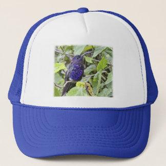 Blue Hummingbird Photo Trucker Hat