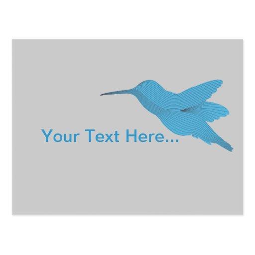 Blue Hummingbird Postcards