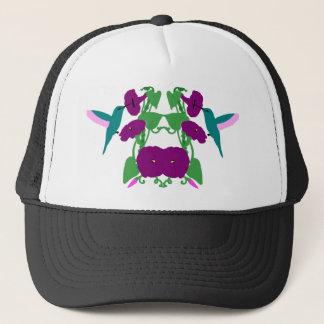 Blue Hummingbirds & Morning Glory Vine Trucker Hat