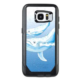 Blue Humpbacks Waterdrops OtterBox Samsung Galaxy S7 Edge Case