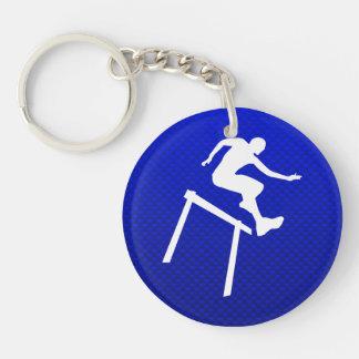 Blue Hurdler Acrylic Key Chain