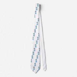 Blue Husky Pup Watercolour Tie